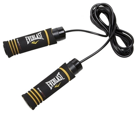 Скакалка Everlast Evergrip Weighted Jump Rope FP-4485, черная (2976890024250)