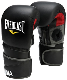 Перчатки снарядные кожаные Everlast Protex2 Clinch Strike Pro Gloves, черные (FP-7212)