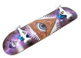 Скейтборд деревянный Fish Skateboard Eye, фиолетовый (416188052)
