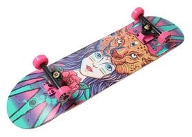 Скейтборд деревянный Fish Skateboard Girl, фиолетовый (1561005642)