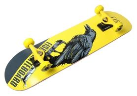Скейтборд деревянный Fish Skateboard Raven, желтый (1575016512)