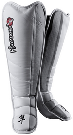 Защита голени Hayabusa Tokushu Grappling Shin Guards, белая (FP-E-ZN1)