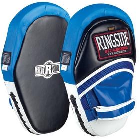 Лапы Ringside Soft Strike Boxing Punch Mitts – черно-синие, натуральная кожа (FP-BMITT)