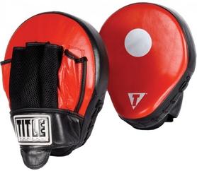 Лапы гнутые Title Incredi-Ball Beefy Punch Mitts FP-TIBPM – черно-красные, натуральная кожа (2976890009462)