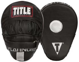 Лапы тренировочные Title Platinum Punch Mitts FP-PPM – черные, натуральная кожа (2976890016538)