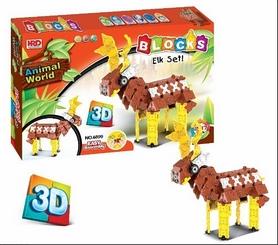Конструктор HRD 3D Animal World - Олень , 287 деталей (938151304)