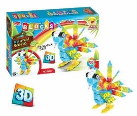 Конструктор HRD 3D Animal World - Попугай, 227 деталь (1107942559)