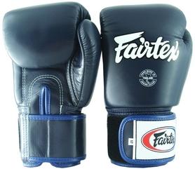 Перчатки тренировочные Fairtex Muay Thai Boxing Gloves, синие (FP-BGV1)