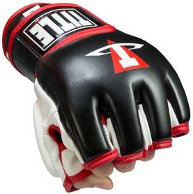 Перчатки тренировочные Title Мма Conflict Training Gloves, черно-белые (FP-XMTG)
