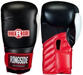 Перчатки тренировочные Ringside Gym Sparring Boxing Gloves, черно-красные (FP-GRP)