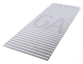 Коврик для йоги (йога-мат) Reebok RAYG-11030YG - серый, 4 мм