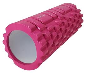 Валик массажный для йоги Tunturi Yoga Grid Foam Roller - розовый, 33 см (14TUSYO026)