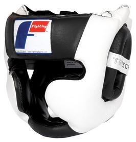 Шлем тренировочный Fighting Sports Tri-Tech Full Training Headgear, черно-белый (FP-FSPFF)