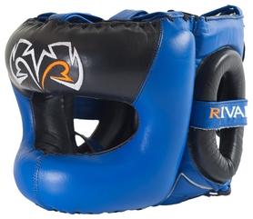 Шлем тренировочный Rival Guerrero Facesaver Headgear, сине-черный (FP-RHGFS3)