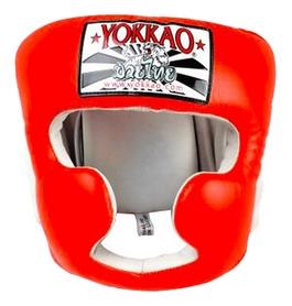 Шлем тренировочный Yokkao Orange Training Head Guard, оранжевый (FP-HYGL-1-6)