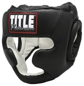 Шлем тренировочный Title Platinum Full Face Training Headgear, черный (FP-PHGF)