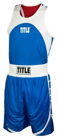 Форма боксерская Title Reversible Aerovent Elite Amateur Boxing Set 2, сине-красная (FP-RTABS2)