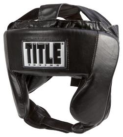 Шлем тренировочный Title Hi-Performance Leather Headgear, черный (2976890027077)