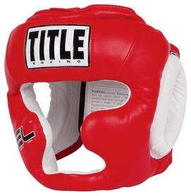 Шлем тренировочный Title Gel World Training Headgear, красный (FP-GTHGF)