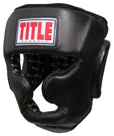 Шлем тренировочный Title Classic Full Coverage Headgear, черный (FP-CPHGF)
