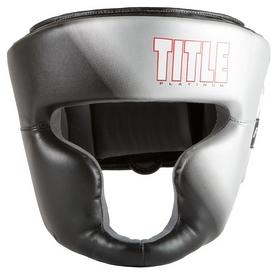 Шлем тренировочный Title Platinum Proclaim Full Training Headgear, черно-серый (FP-PPHGF)