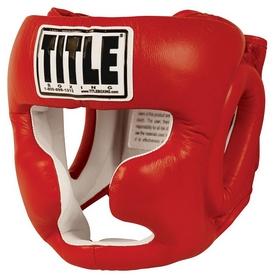 Шлем тренировочный Title Pro Full Face Training Headgear, красный (FP-THGFF)