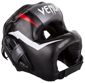 Шлем боксерский Venum Elite Iron Headgear, черно-серый (2976890031821)