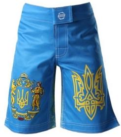 Шорты MMA Berserk Hetman Kids, голубые (SH0909Bl)