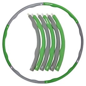 Обруч Tunturi Fitness Hoola Hoop - серо-зеленый, 1,5 кг (14TUSFU275)
