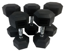 Ряд гантельный Tunturi Rubber Dumbbells Set, 5 пар по 12-20 кг (14TUSCL181)