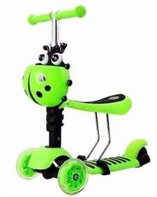 Самокат трехколесный Scooter Божья коровка 5 in 1, зеленый (2016887948)
