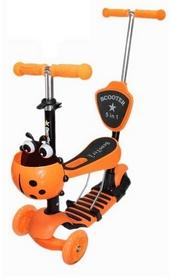 Самокат трехколесный Scooter Божья коровка 5 in 1, оранжевый (1369165761)