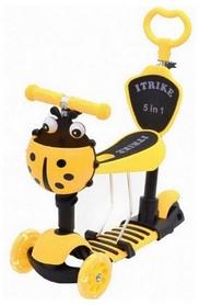 Самокат трехколесный Scooter Божья коровка 5 in 1, желтый (1452070781)