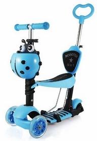 Самокат трехколесный Scooter Божья коровка 5 in 1, синий (1466627833)