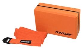 Набор для йоги Tunturi Yoga Set Block with Strap, оранжевый (14TUSYO019)