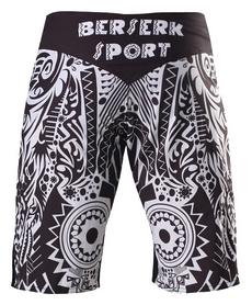 Шорты для MMA Berserk African Mask, черные (SH5612B)