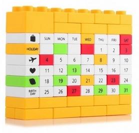 Календарь вечный CDRep Puzzle 123529, желтый