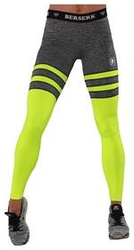 Лосины спортивные Berserk Intensity, серо-желтые (L7217MY)
