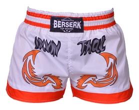 Шорты для единоборств Berserk Muay Thai Fighter, белые (TF8900W)