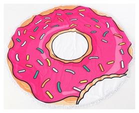 Коврик пляжный CDRep Пончик розовый (FO-121438)