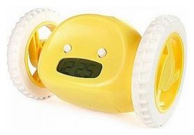 Будильник на колесиках убегающий CDRep, желтый (FO-122304)