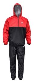 Костюм для похудения с капюшоном RDX Red New, черно-красный (RD-40256)