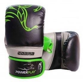 Перчатки боксерские PowerPlay Cobra 3038, зеленые (3038-GN)