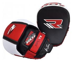 Лапы боксерские RDX Leather Red, черно-красные (1766_40241)
