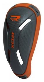 Защита паха (ракушка) MMA RDX Сarbon, серо-оранжевая (603_10709)