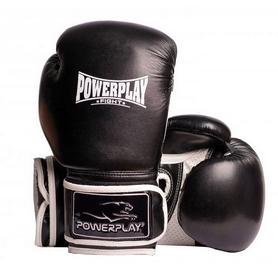 Перчатки боксерские PowerPlay Fight, черные (3019)