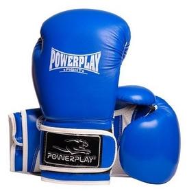 Перчатки боксерские PowerPlay Fight, синие (3019)