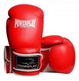 Перчатки боксерские PowerPlay Fight, красные (3019)