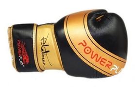 Перчатки боксерские PowerPlay Platinum, черные (3023)