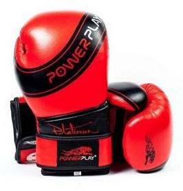 Перчатки боксерские PowerPlay Platinum, красные (3023)